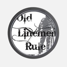 old linemen rule 2 Wall Clock