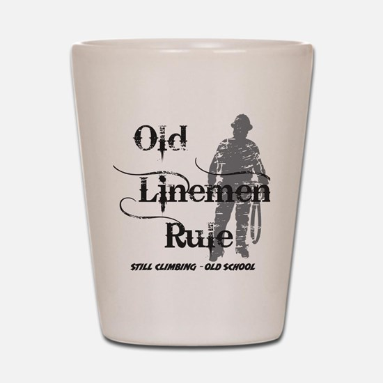 old linemen rule 2 Shot Glass