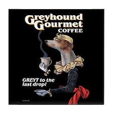 Greyhound Gourmet-maiden Tile Coaster