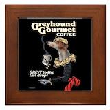 Greyhound art Framed Tiles