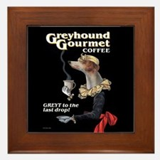 Greyhound Gourmet-maiden Framed Tile