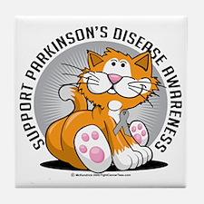 Parkinsons-Disease-Cat Tile Coaster