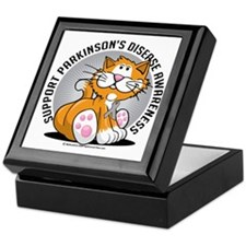 Parkinsons-Disease-Cat Keepsake Box
