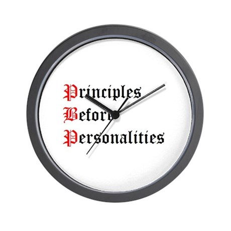 Principles Before Personalities Wall Clock