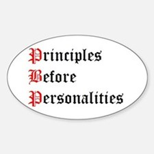 Principles Before Personalities Oval Decal
