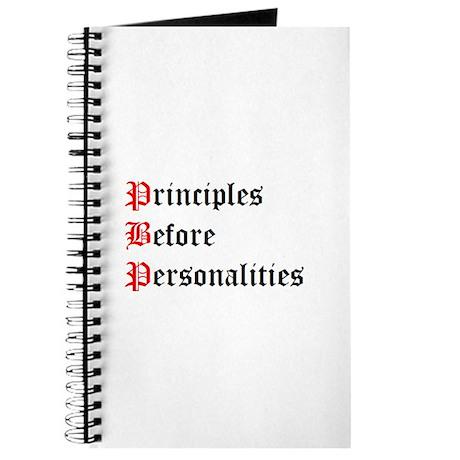 Principles Before Personalities Journal