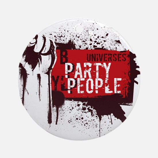 Party People illustration Round Ornament