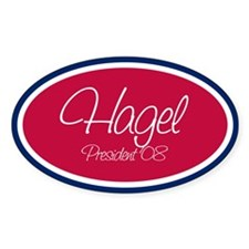 CHUCK HAGEL PRESIDENT '08 Oval Decal