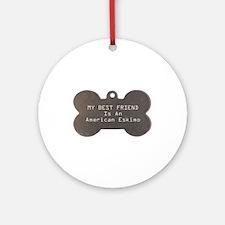 Friend Eskimo Ornament (Round)