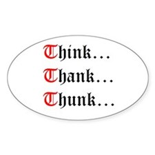 Think Thank Thunk Oval Decal