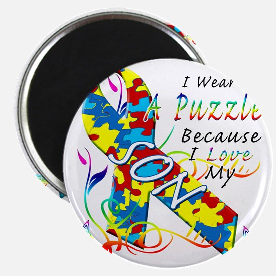I Wear A Puzzle Because I Love My Son Magnet