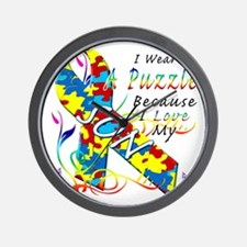 I Wear A Puzzle Because I Love My Son Wall Clock