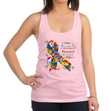 I Wear A Puzzle Because I Love  Racerback Tank Top