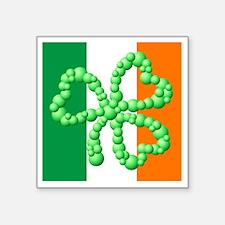 "bubble_shamrock_02_flag_x10 Square Sticker 3"" x 3"""