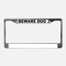 BEWAREDOG License Plate Frame