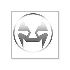 "Emblemnobgsilver2 Square Sticker 3"" x 3"""