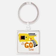Go Time Dart Gun Square Keychain