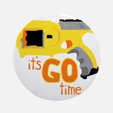 Go Time Dart Gun Round Ornament