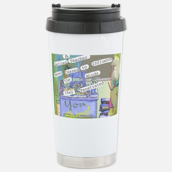 Retired Teacher ART 1 Stainless Steel Travel Mug