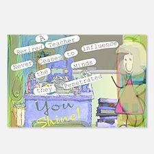 Retired Teacher ART 1 Postcards (Package of 8)