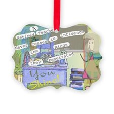 Retired Teacher ART 1 Ornament