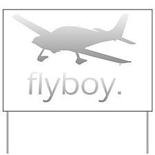 Flyboy Student Pilot (Dark) Yard Sign