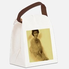 lady with pearls Canvas Lunch Bag