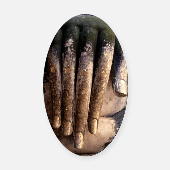 Buddha Hand Oval Car Magnet