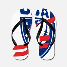 USA American Rugby Ball Shield Flip Flops