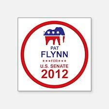 "2012_pat_flynn_main Square Sticker 3"" x 3"""