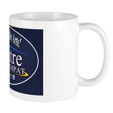 Support-oval-blue2 Small Mug