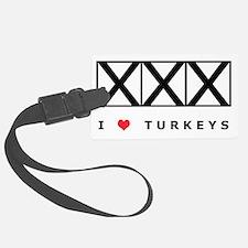 Bowling, I Love Turkeys, T-Shirt Luggage Tag