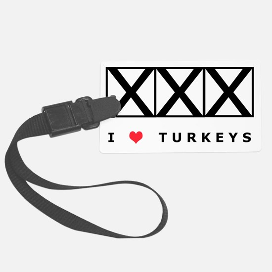 Bowling, I Love Turkeys, T-Shirt Luggage Tag