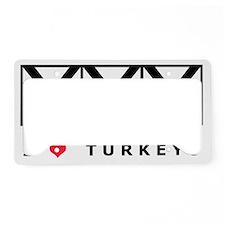 Bowling, I Love Turkeys, T-Sh License Plate Holder