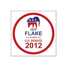 "2012_jeff_flake_main Square Sticker 3"" x 3"""