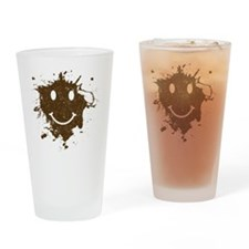 MudSmiley_shirt Drinking Glass