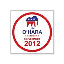 "2012_jim_ohara_main Square Sticker 3"" x 3"""