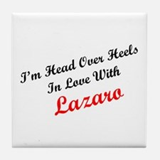 In Love with Lazaro Tile Coaster