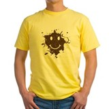 Forrest gump smiley face Mens Yellow T-shirts