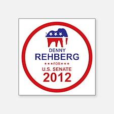 "2012_denny_rehberg_main Square Sticker 3"" x 3"""