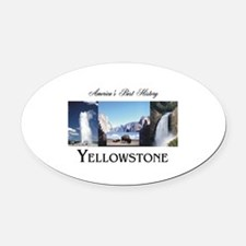 Yellowstone Oval Car Magnet