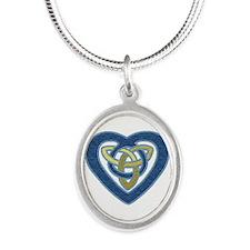 Celtic Felt Heart Necklaces