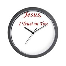 Jesus Trust PNG UPLOAD CP Wall Clock