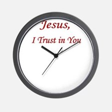 Jesus Trust PNG UPLOAD CP Wall Clock