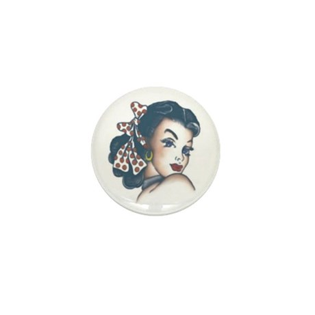 Pin-Up Girl Mini Button