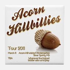 Acorn Hillbillies Tile Coaster