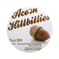 Acorn Hillbillies Round Ornament
