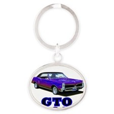 Red Pontiac (Multicoloured) Oval Keychain