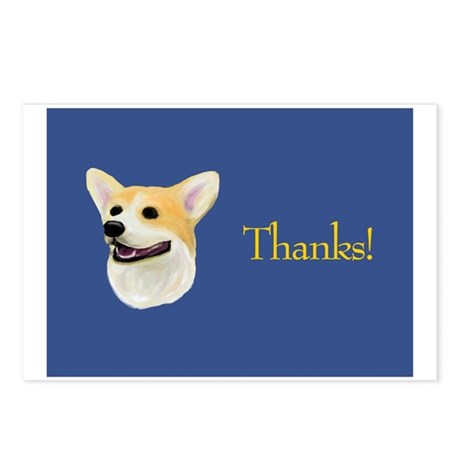 corgi thank you card postcards (package of 8) by