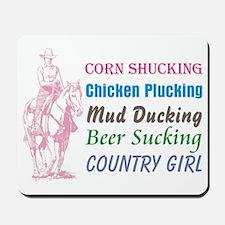corn shucking country girl Mousepad
